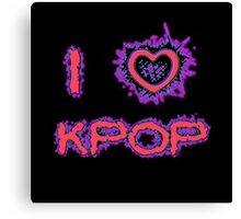 I LOVE KPOP SPIKE - PINK Canvas Print