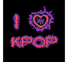 I LOVE KPOP SPIKE - PINK Photographic Print