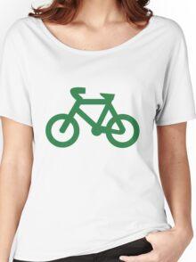 Bike in Green Women's Relaxed Fit T-Shirt