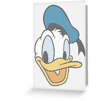 Donald Duck dot pattern Greeting Card