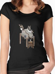 Party Animals Series: The Penguins Women's Fitted Scoop T-Shirt
