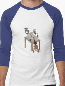Party Animals Series: The Penguins Men's Baseball ¾ T-Shirt