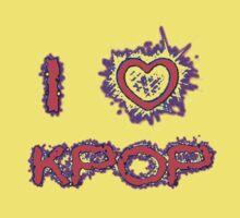 I LOVE KPOP SPIKE - PINK One Piece - Short Sleeve