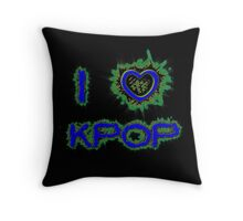 I LOVE KPOP SPIKE - BLUE Throw Pillow