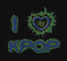 I LOVE KPOP SPIKE - BLUE One Piece - Short Sleeve