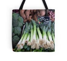 Leeks ready to cook Tote Bag