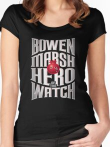 Bowen Marsh: Hero of the Watch Women's Fitted Scoop T-Shirt