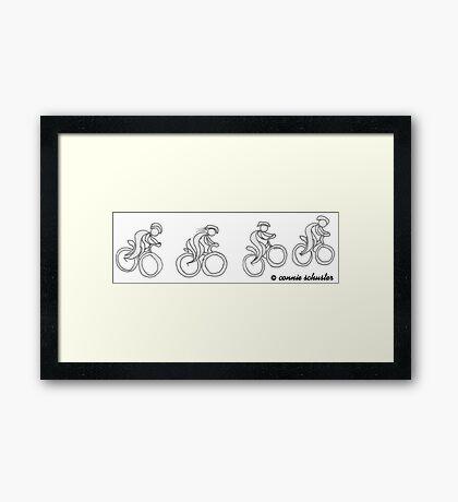 Happy Mountain Biker Framed Print