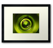 Green Wine Vortex  Framed Print