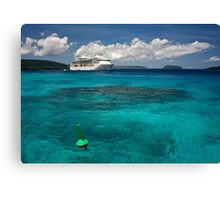 Radiance of the Seas, Champagne Bay Canvas Print