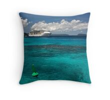 Radiance of the Seas, Champagne Bay Throw Pillow