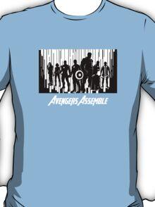 Avengers Assemble in black T-Shirt