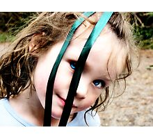 Holly has a Ribbon in her eyes Photographic Print