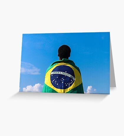 Brazilian Fanatic Greeting Card