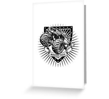 monster truck shield Greeting Card