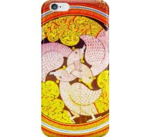 Ancient Buddhist Temple Painting - 3 Geese iPhone Case/Skin