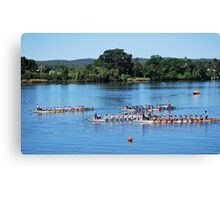 Dragon Racing - getting lined up to Start !!! Canvas Print