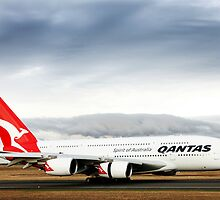 Qantas A380 by Peter Redmond