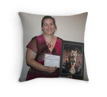 Animalia -Captive- winner Natalie Zupan Throw Pillow