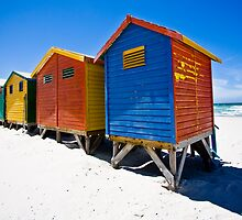 Muizenberg Beach Huts #2 by Tom Powell