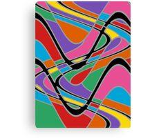 Retro Art - Vivid Colour #22 Canvas Print