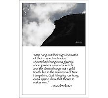 Daniel Websters Words Photographic Print
