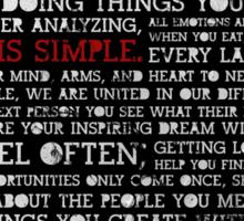 Motivational Quote Sticker