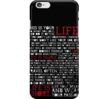 Motivational Quote iPhone Case/Skin