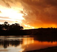Red Storm Sunset  by bushdrover