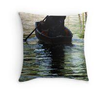Floating Market Throw Pillow