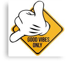 Good Vibes - Hang Loose Fingers Metal Print