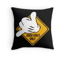 Good Vibes - Hang Loose Fingers Throw Pillow