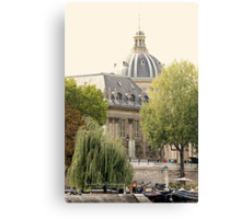 Along The River Seine - Paris Canvas Print