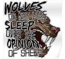 Wolves and Sheep Poster