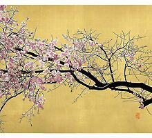 Sakura on Gold by 73553