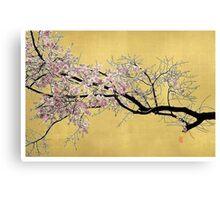 Sakura on Gold Canvas Print