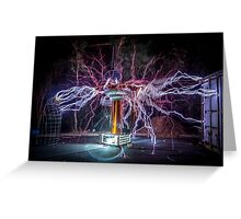 Electric Spider Greeting Card