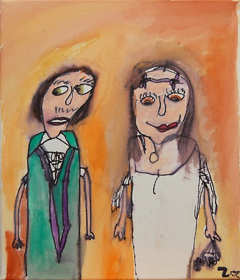 Mum and Dad on their Wedding Day by Zoe Thomas age 7 by Julia  Thomas