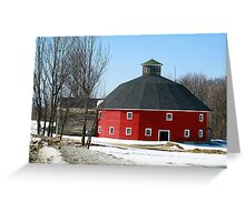 Welch Round Barn Greeting Card