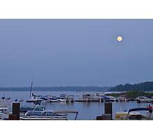 Moonrise Over White Bear Lake, Minnesota Photographic Print