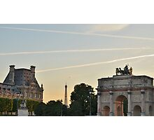 Contrails Over Paris Photographic Print