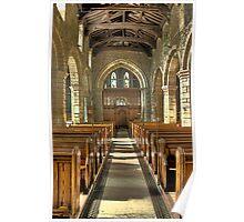 Eckington Church Interior Poster