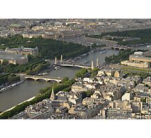 The Bridges Over the Seine Photographic Print