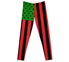 African American Flag Leggings Leggings