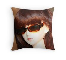 behind the lens Throw Pillow