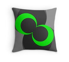 The Green Button Down Throw Pillow