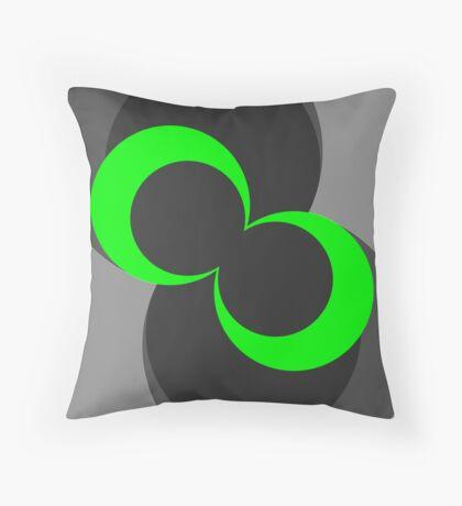 The Green Button Down Throw Pillow