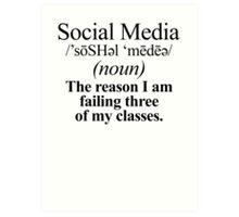 Social Media Definition Art Print