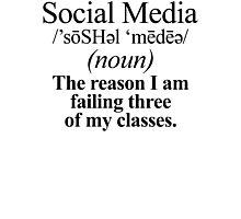 Social Media Definition Photographic Print