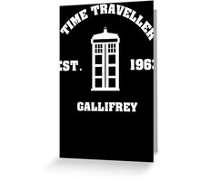 Doctor Who Time Traveller Gallifrey Greeting Card